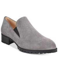 Nine West Lightning Loafers Women's Shoes Grey Suede