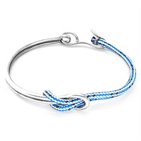 Anchor And Crew Tay Rope Silver Half Bangle
