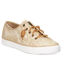 Sperry Seacoast Eye Cat Boat Shoes Women's Shoes Gold