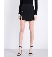 Versus By Versace Safety Pin Crepe Skirt Black
