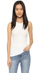 6397 Ribbed Tank White
