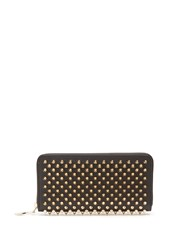 Christian Louboutin Panettone Embellished Zip Around Leather Wallet Black Gold