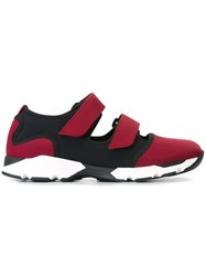 Marni Velcro Fastening Sneakers Red