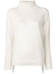 Michael Michael Kors Roll Neck Fitted Sweater Neutrals