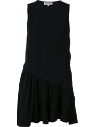Opening Ceremony V Neck Ruffle Dress Black