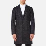 Paul Smith Ps By Men's Single Breasted Overcoat Black
