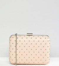 True Decadence Box Clutch Bag With Studding Pink
