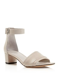 Vince Raine Ankle Strap Mid Heel Sandals Light Grey