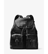 Bryant Embossed Leather Backpack
