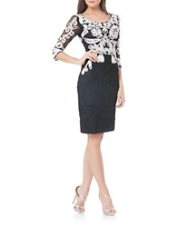 Js Collections Soutache Embellished Cocktail Dress Black White