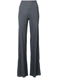 Rick Owens Flared Fitted Trousers Grey