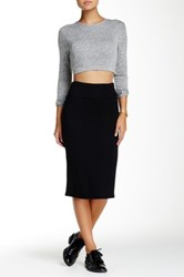 Riller And Fount High Waisted Pencil Skirt Black