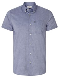 Barbour Casey Short Sleeve Oxford Shirt Navy
