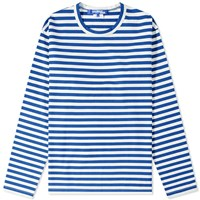 Junya Watanabe Man Long Sleeve Stripe Tee Blue