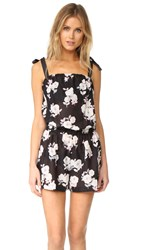 Kate Spade Posey Grove Tie Shoulder Romper Black