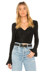 The Fifth Label Bounty Long Sleeve Crop Top Black