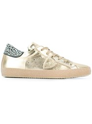 Philippe Model Metallic Sneakers Nude Neutrals