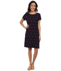 Hatley T Shirt Dress Seahorses Women's Dress Navy