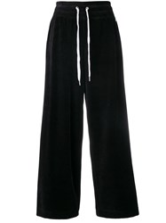 Dkny Wide Track Trousers Black