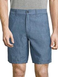 John Varvatos Triple Needle Linen Shorts Water Blue