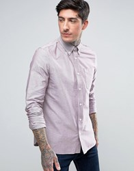 Fred Perry Long Sleeved Oxford Shirt In Red Red