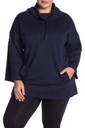 Ugg Astrid Fleece Poncho Pullover Plus Size Navy