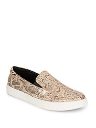 Kenneth Cole Reaction Salt King Snake Print Skate Sneakers Gold