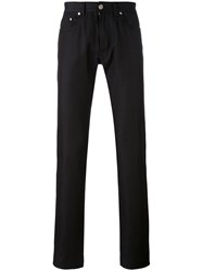 Brioni Fashion Fit Pocket Trousers Men Cotton 36 Black