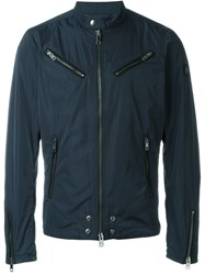 Diesel 'J Edgea' Biker Jacket Blue