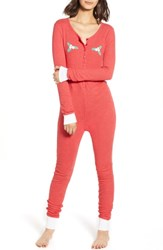 Wildfox Couture Holiday Fox Jumpsuit Scarlet