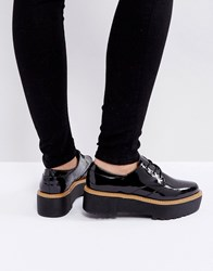 Sixty Seven Sixtyseven Chunky Sole Lace Up Shoes Patent Black