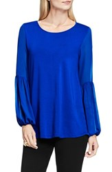 Vince Camuto Women's Chiffon Bishop Sleeve Knit Top