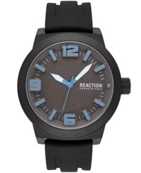 Kenneth Cole Reaction Black Silicone Strap Watch 45Mm