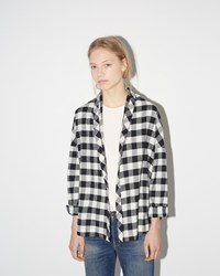 6397 Shawl Cardigan White Buffalo Check