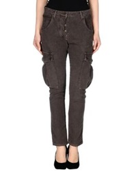 Adele Fado Casual Pants Dark Brown