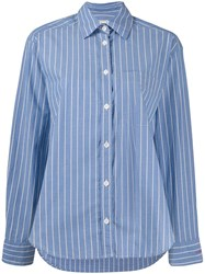 Zadig And Voltaire Striped Chemise Shirt Blue