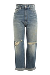 Golden Goose High Waisted Cropped Jeans Blue