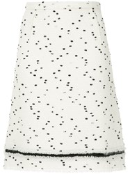 Giambattista Valli Dot Printed Skirt White