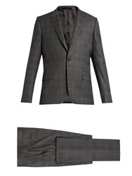 Paul Smith Soho Fit Checked Wool Suit Grey Multi