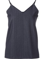 H Beauty And Youth. Saxon Stripe Camisole Blouse Grey