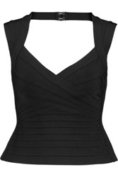 Herve Leger Cutout Bandage Top Black
