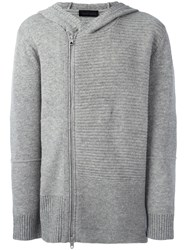 Diesel Black Gold Striped Zipped Hoodie Grey