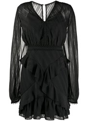 Three Floor Mirrored Escape Mini Dress Black