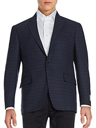 Todd Snyder Mayfair Fit Checked Wool Sportcoat Dark Blue