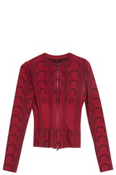 Alaia U Pattern Cardigan Red