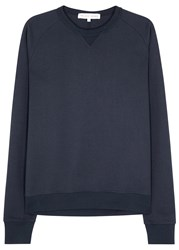 Orlebar Brown Fulton Navy Cotton Blend Sweatshirt