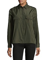 Red Valentino Long Sleeve Button Down Shirt Militare