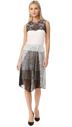 Loyd Ford Sleeveless Lace Dress Black White