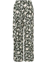 Christian Wijnants Floral Palazzo Trousers Green