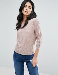 Vero Moda Light Weight Long Sleeve Top Pink